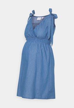 MAMALICIOUS - MLMILANA TESS WOVEN DRESS - Vestido informal - light blue