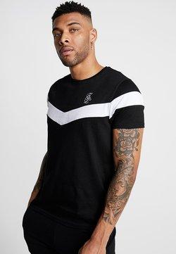 Brave Soul - CHEVRON - T-shirt con stampa - black/white