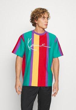 Karl Kani - SIGNATURE STRIPE TEE UNISEX - T-shirt con stampa - purple