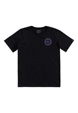 Quiksilver - TIME CIRCLE YOUTH - T-shirt print - black