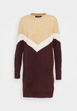 Vero Moda - VMGINGOBLOCK O-NECK DRESS  - Jumper dress - cabernet/birch/tan
