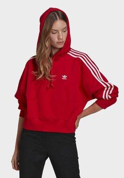 adidas Originals - SHORT HOODIE - Bluza z kapturem - scarlet