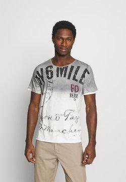 Key Largo - BEAVER CREEK ROUND - T-shirt print - silver