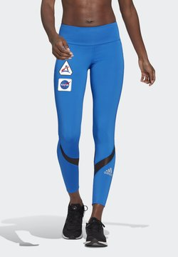 adidas Performance - OWN THE RUN SPACE RACE 7/8 RUN LEGGINGS - Medias - football blue