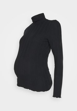 Pieces Maternity - PCMSAOREM ROLL NECK - Pullover - black
