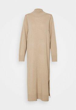 FTC Cashmere - DRESS HIGHNECK - Strickkleid - desert sand