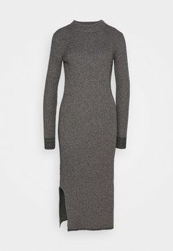Calvin Klein - ROLL NECK MIDI DRESS - Jumper dress - mid grey heather