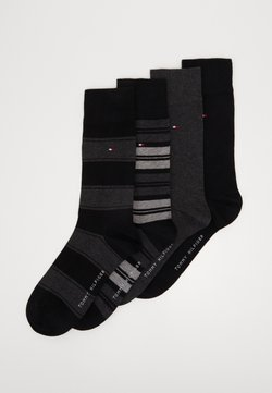 Tommy Hilfiger - SOCK STRIPE GIFTBOX 4 PACK - Sokken - black