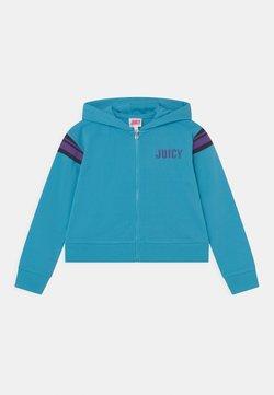 Juicy Couture - HOODIE - Vetoketjullinen college - aquarius