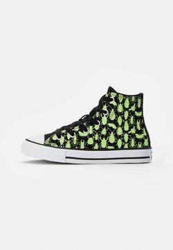 Converse - CHUCK TAYLOR ALL STAR GLOW BUG - Korkeavartiset tennarit - black/ceramic green/white