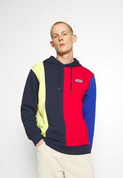Fila - BAIRN - Sweat à capuche - true red/black iris/aurora/dazzling blue
