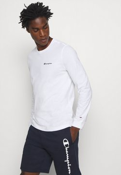 Champion - LEGACY LONG SLEEVE CREWNECK - Maglietta a manica lunga - white