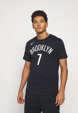 Nike Performance - NBA BROOKLYN NETS NAME AND NUMBER TEE - Fanartikel - black