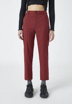 PULL&BEAR - Spodnie materiałowe - red