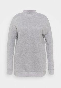 Simply Be - HIGH NECK - Sweatshirt - grey marl