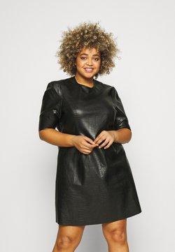 Noisy May Curve - NMLISSY HILL SHORT DRESS - Kjole - black
