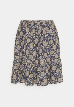 by-bar - CHARLIE BOMBAY SKIRT - A-Linien-Rock - blue