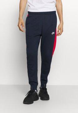 Nike Sportswear - Træningsbukser - obsidian/university red/white