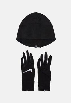 Nike Performance - WOMENS ESSENTIAL RUNNING HAT AND GLOVE SET - Gorro - black/silver