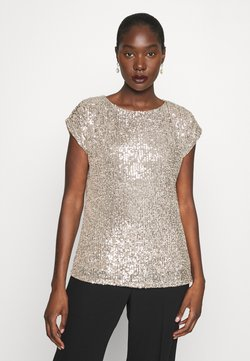 Dorothy Perkins - SEQUIN TEE - Print T-shirt - champagne