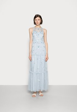 Adrianna Papell - BEADED TIERED GOWN - Robe de cocktail - glacier