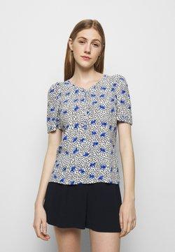 maje - LENSAM - Bluse - blanc/parme