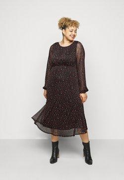 Evans - PRINTED HANKY HEM DRESS - Sukienka letnia - black