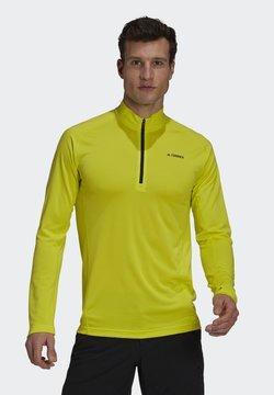 adidas Performance - TERREX TRACEROCKER 1/2 ZIP LONGSLEEVE - Långärmad tröja - acid yellow
