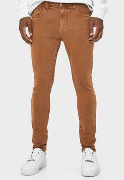 Bershka - Slim fit jeans - brown