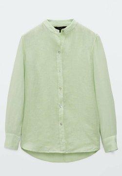 Massimo Dutti - UNIFARBENES  - Camicia - evergreen
