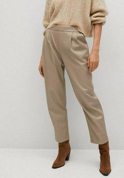 Mango - SIENA - Pantalon en cuir - licht/pastelgrijs