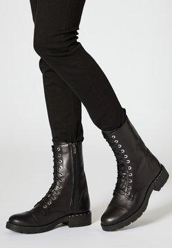 myMo - Botines con cordones - black