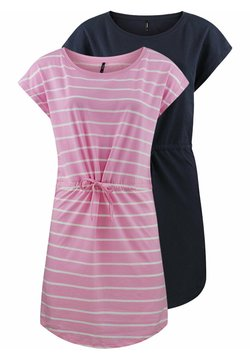 ONLY - ONLMAY 2 PACK - Jerseykleid - lilac sachet primo stripe