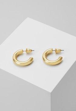 Orelia - MINI CHUNKY HOOP EARRINGS - Earrings - pale gold-coloured