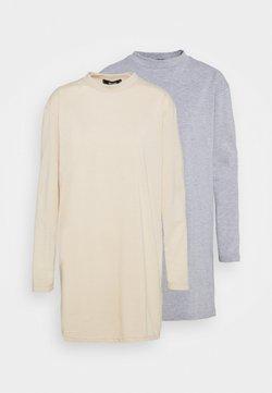 Missguided - BASIC DRESS 2 PACK - Vestido ligero - grey/stone