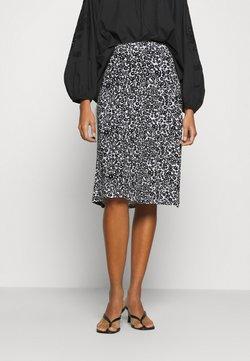 Even&Odd - BASIC - Midi skirt - Gonna a campana - white/black