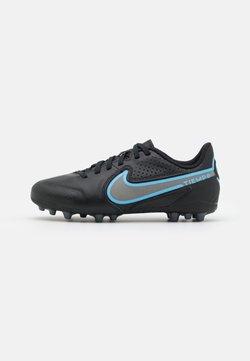 Nike Performance - JR. TIEMPO LEGEND 9 ACADEMY AG UNISEX - Korki Lanki - black/iron grey