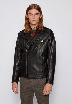 BOSS - Leather jacket - black
