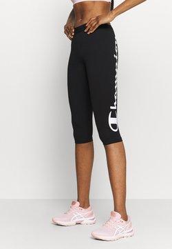 Champion - LEGGINGS - 3/4 Sporthose - black