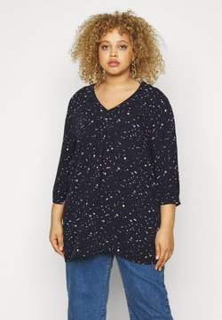 MY TRUE ME TOM TAILOR - Bluse - navy based terrazzo