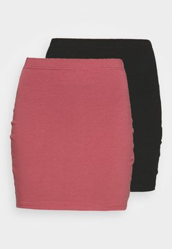 Even&Odd - 2 PACK - Spódnica mini - black/pink