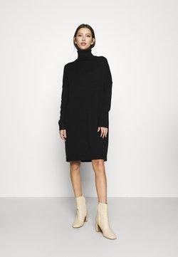 Vila - VIRIL ROLLNECK  - Jumper dress - black