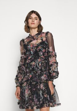 Needle & Thread - FLORAL DIAMOND RUFFLE DRESS - Vestito elegante - graphite