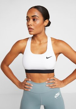 Nike Performance - MED BAND BRA NON PAD - Sport BH - white/black