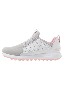 Skechers Performance - MAX MOJO - Golf shoes - white/gray/pink