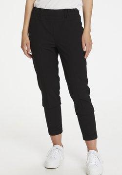 Kaffe - NANCI JILLIAN - Spodnie materiałowe - black deep