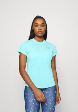 New Balance - ACCELERATE SHORT SLEEVE - Camiseta estampada - glacier