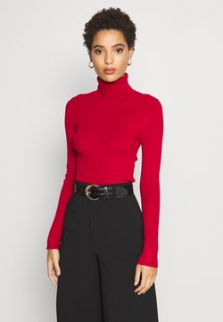 Anna Field - BASIC- RIBBED TURTLE NECK - Strickpullover - red