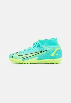 Nike Performance - MERCURIAL 8 ACADEMY TF UNISEX - Scarpe da calcetto con tacchetti - dynamic turq/lime glow