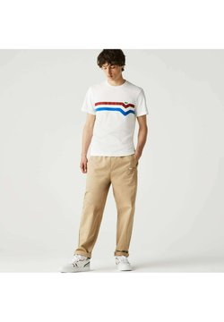 Lacoste - T-Shirt print - blanc/rouge/bleu